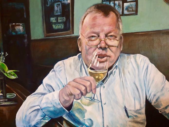 Portret van Toon geschilderd door Frans Doejaren.