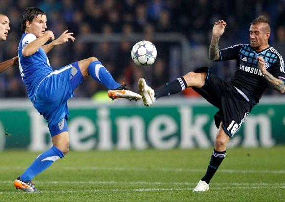 Jelle Vossen scoorde tegen Chelsea.