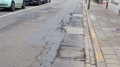Verzakkingen in Polderstraat worden hersteld