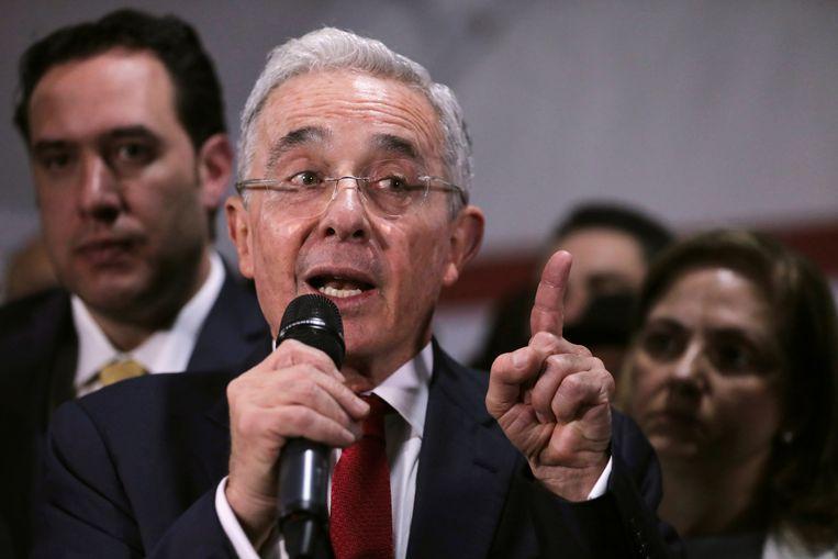 De Colombiaanse oud-president Alvaro Uribe.