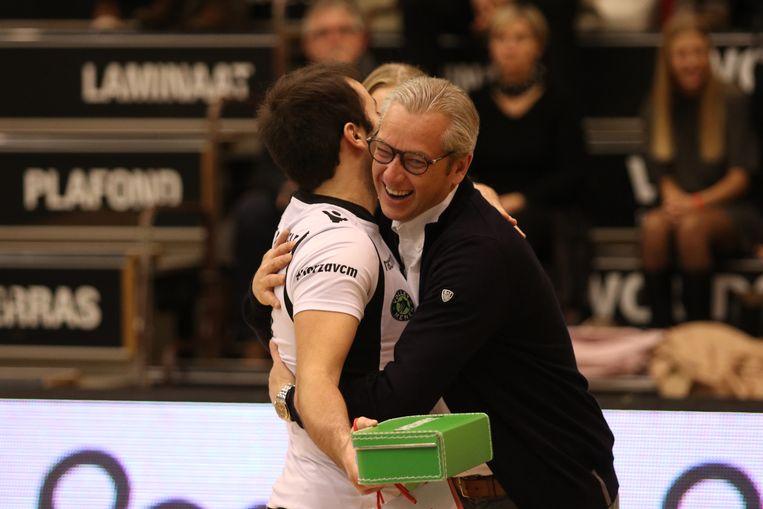 Pierre Vandeputte in betere tijden van zijn volleybalclub