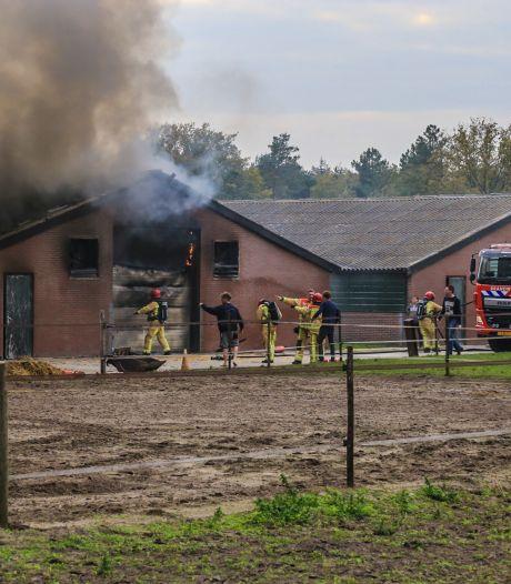 Uitslaande brand in lege kippenstal in Deurne