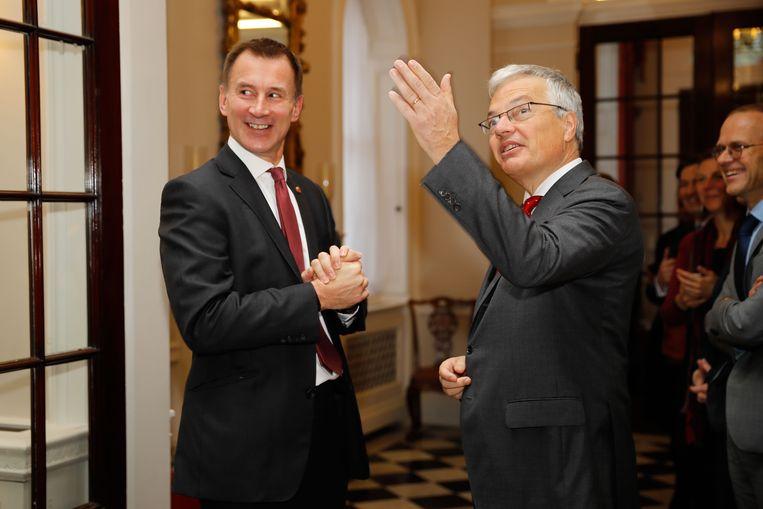 Jeremy Hunt met Didier Reynders in Londen.