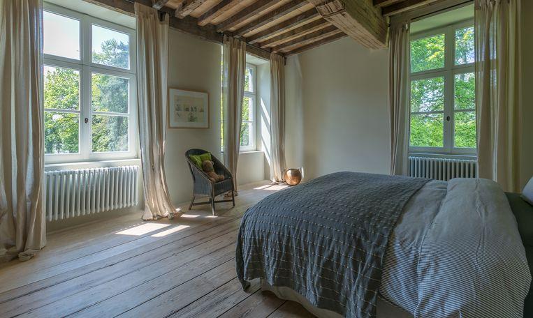 Eén van de slaapkamers in Kasteel Nieuwenhove