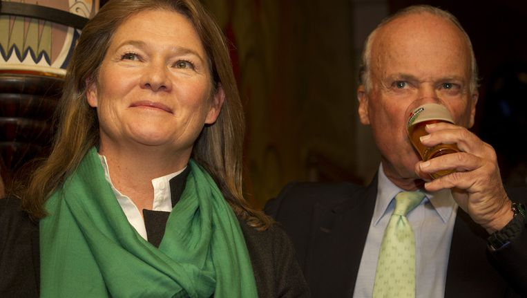 Charlene de Carvalho-Heineken en haar man Michel de Carvalho. Beeld ANP