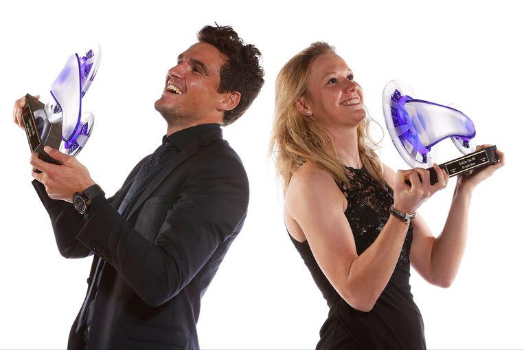 Greg Van Avermaet en Jolien D'hoore: de winnaars van vorig jaar.