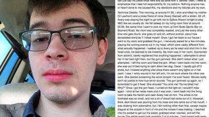 """Twintiger beschrijft op Facebook hoe hij moeder en vriend vermoordde, voor hij zelfmoord pleegt: """"Ik voelde amper iets."""""""