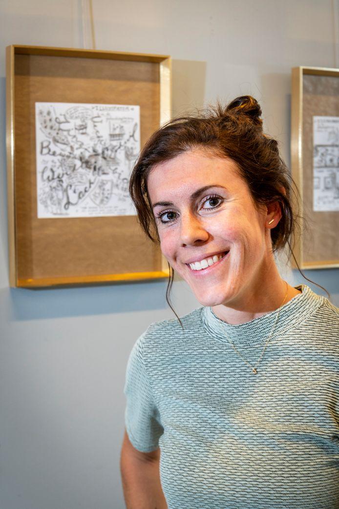 Janne Keurlings maakte tekeningen en voorzag die van een toepasselijke songtekst, om een inkijkje te geven in haar werkveld.