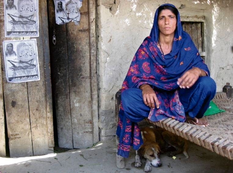 Mai Jori Jamali: 'Het vee gaat dood als er niets gebeurt. We hebben al tien jaar gebrek aan water, maar nu is het acuut.' (FOTO SUZANNA KOSTER) Beeld
