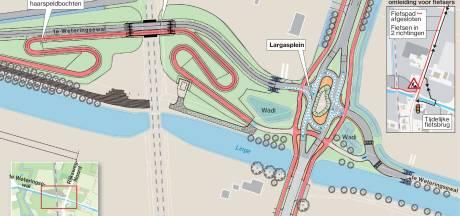 Fiets en auto vanaf nu vol in de wegwerkzaam op Rijksweg-Noord