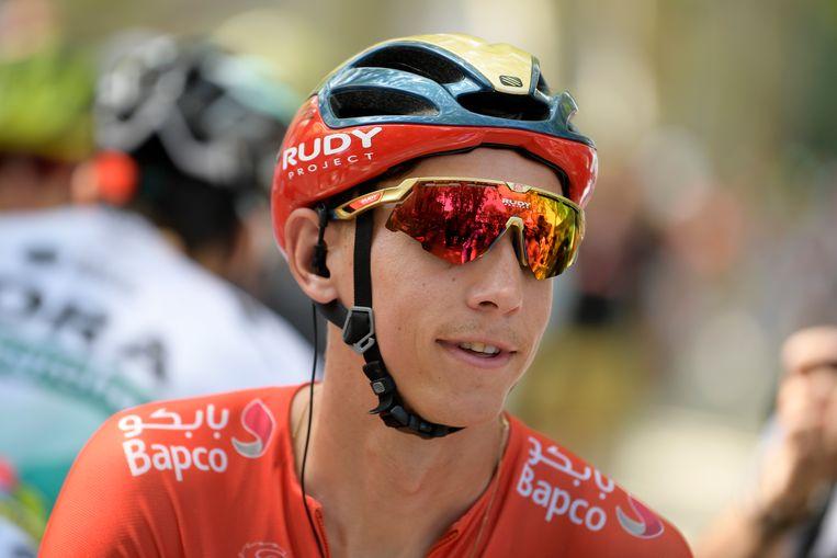 Dylan Teuns, die de rit naar La Planche des Belles Filles won, komt voor de eerste keer.