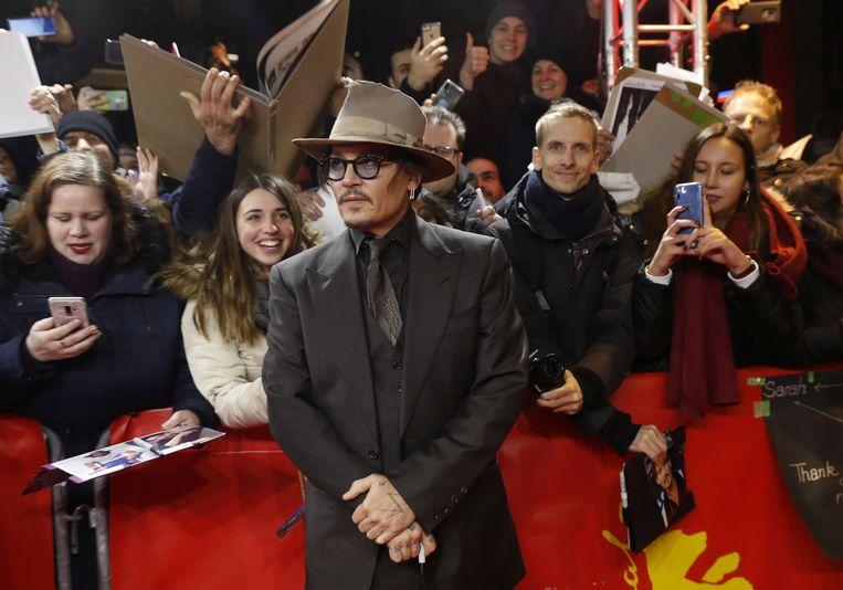 Johnny Depp is in Berlijn voor de film Minamata. Beeld Reuters