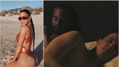 SHOWBITS. Kim Kardashian ontspant op het strand en zo romantisch is een bedscène écht