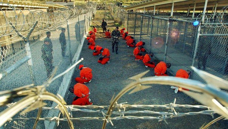 Archieffoto van de gevangen die aankomen op Guantanamo Bay Beeld epa