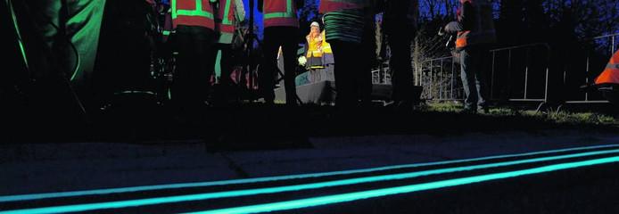 Het vak met de Glowing Lines op de Weg van de Toekomst in Oss wordt permanent laboratorium.