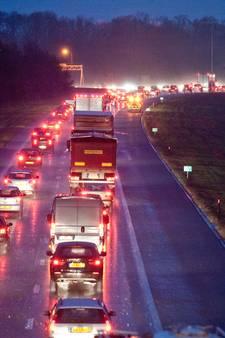 Files in Twente op A35 en A1 door ongelukken