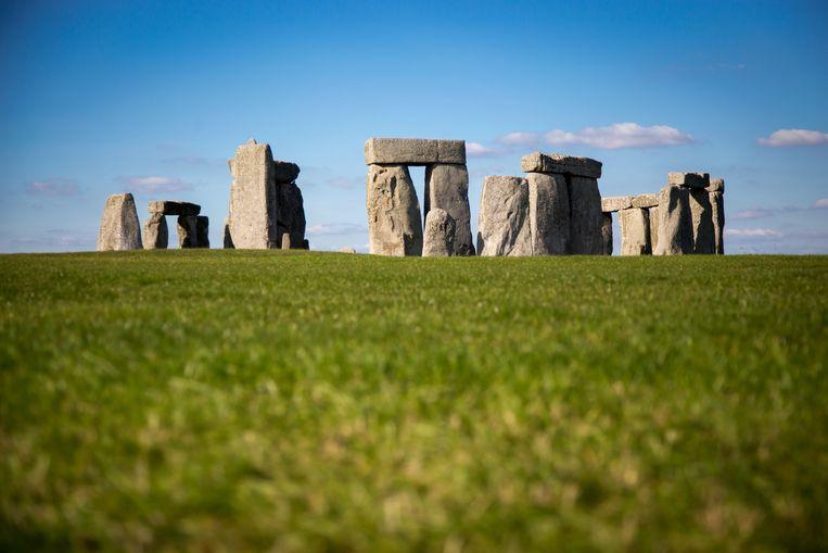 Foto ter illustratie van Stonehenge.
