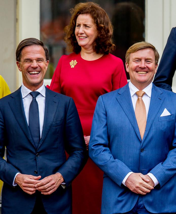 Premier Mark Rutte en koning Willem-Alexander.