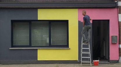 WK-gekte in Schoten: man schildert huis in Belgische driekleur... met roze