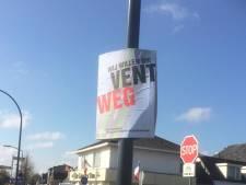 Vughtse actievoerders moeten borden met 'Wij willen die vent weg' verwijderen