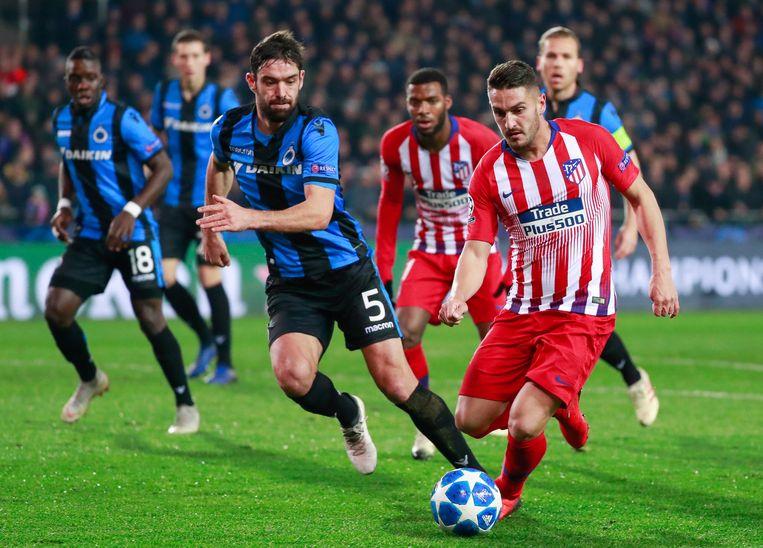 In de eerste helft zorgde vooral Saul Niguez voor gevaar bij Atlético Madrid.