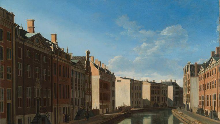 Een van de topstukken: Gezicht op de Gouden Bocht in de Herengracht van Gerrit Adriaensz. Berckheyde. Beeld Rijksmuseum