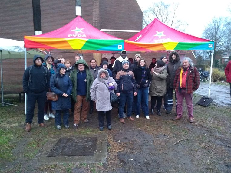 PVDA Leuven ging naar Lolanden in Kessel-Lo om de bewoners te steunen die moeten wonen in slechte omstandigheden.