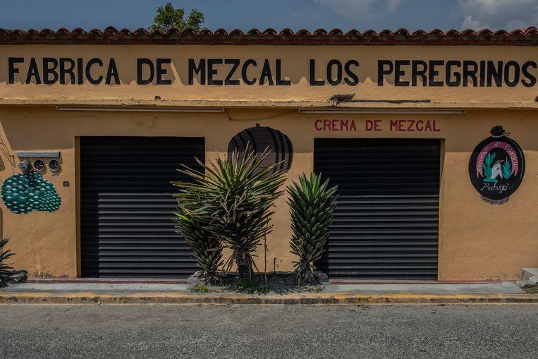 Een mezcal fabriek, gesloten door de corona lockdown. Beeld Alejandro Cegarra
