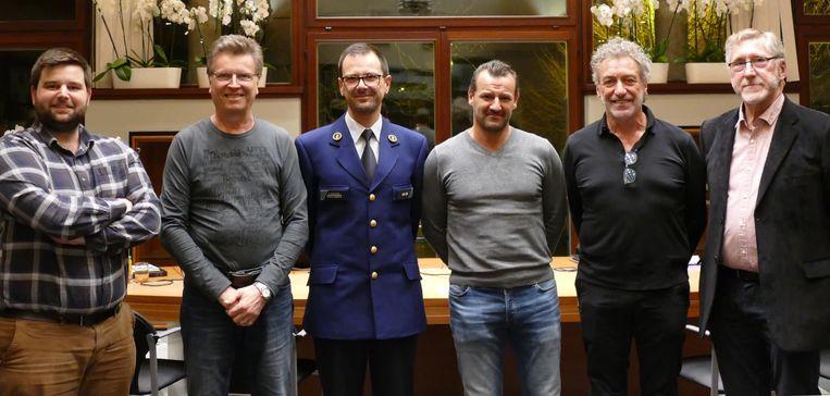 De Zelzaatse politieraadsleden.