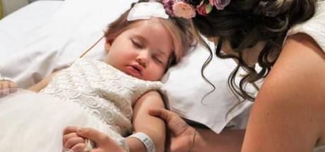 Moeder vervult met bruiloft grote wens van dochter (4) met tumor