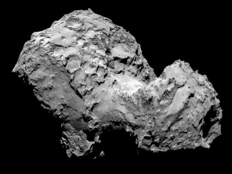 In augustus nam Rosetta deze foto van de komeet. Beeld ESA/Rosetta/MPS for OSIRIS