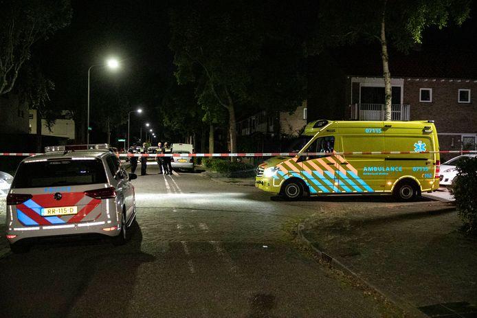 Hulpdiensten op de Broekveldseweg in Rheden.