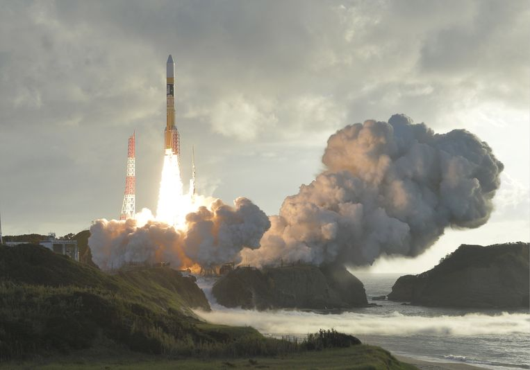 Een wel gelukte lancering vanaf het Japanse eiland Tanegashima in 2017. Archieffoto.
