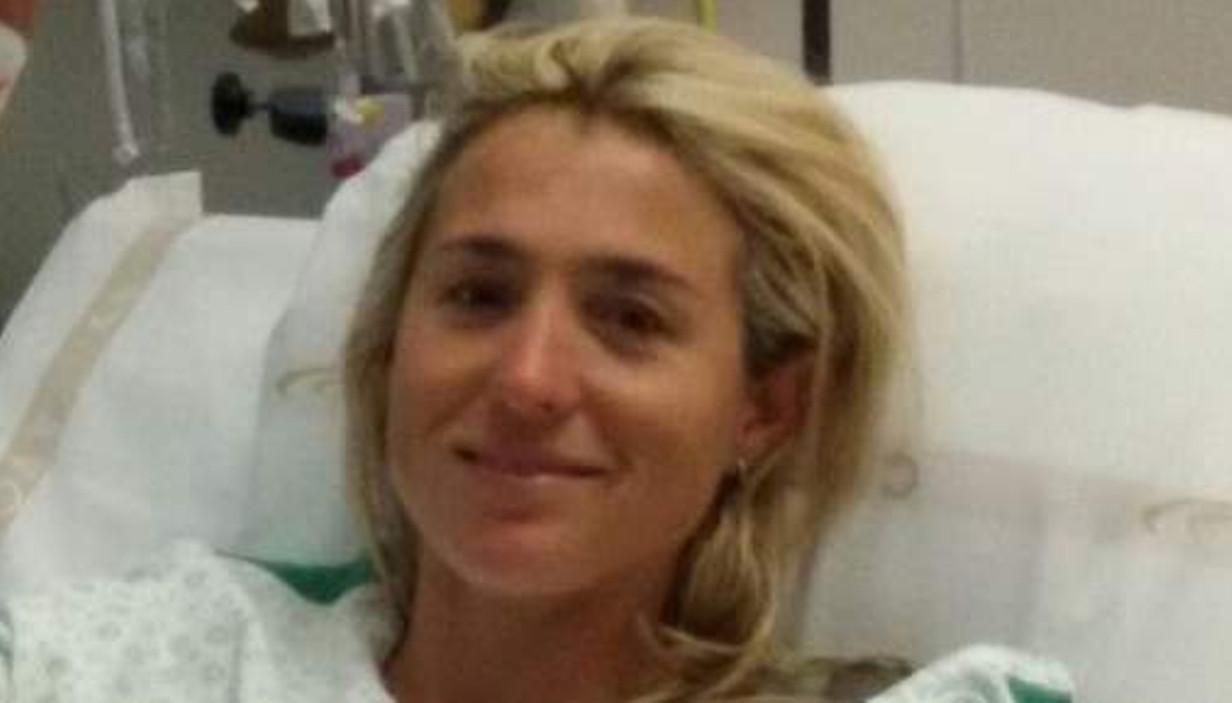 Sofie Goos in het ziekenhuis.