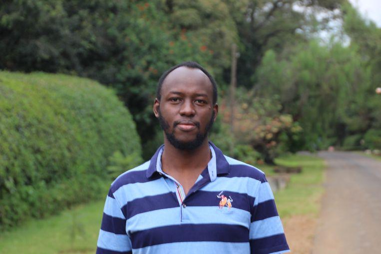Kevin Njoroge, Keniaan die nu geld stuurt naar zijn neef in China in plaats van omgekeerd.   Beeld Ilona Eveleens