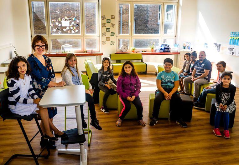Het vijfde en zesde leerjaar delen voortaan een klaslokaal.