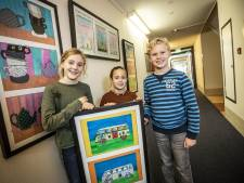 Piepjonge kunstenaars vrolijken seniorencentra in Tubbergen op