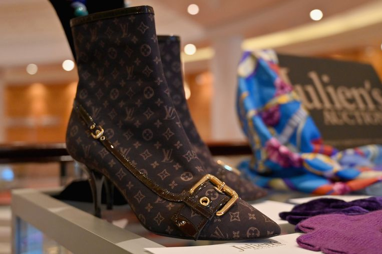 Laarsjes van Louis Vuitton. Beeld AFP
