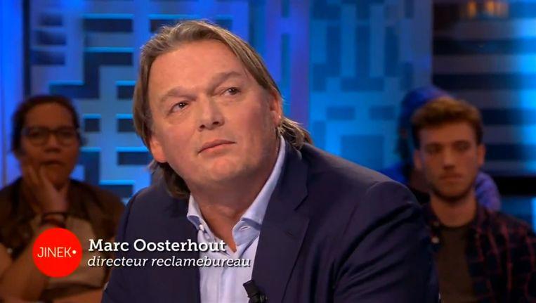 Reclameman Marc Oosterhout bij Jinek. Beeld KRO-NCRV