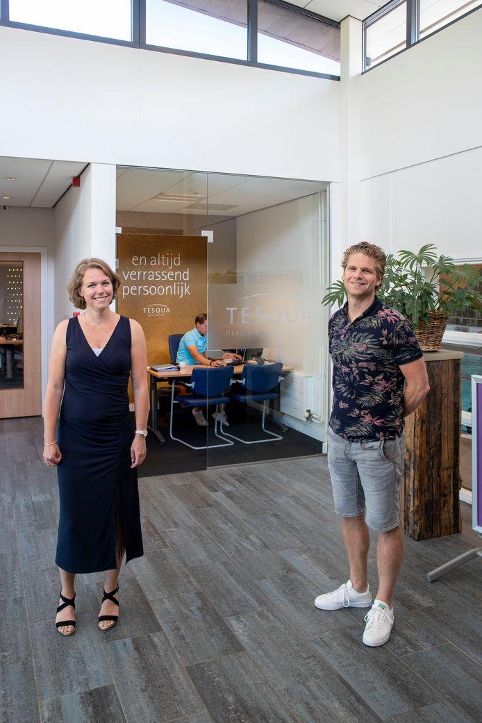 Broer Maarten Stuivenberg en zus Marieke Schimmel Stuivenberg, de eigenaren van de Edese sportschool Tesqua.