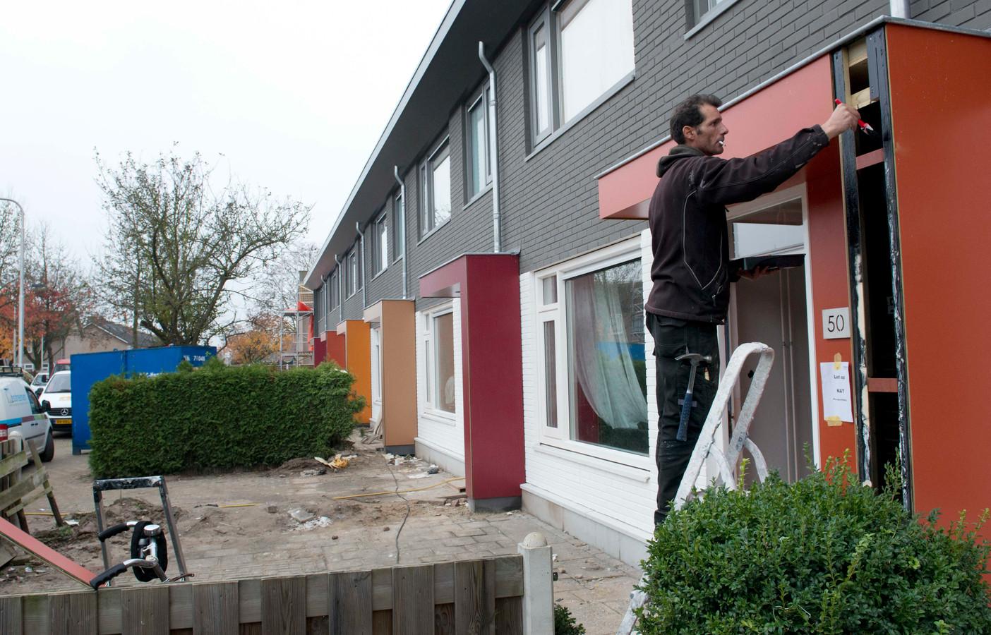 Renovatie van woningen van KleurrijkWonen aan de Van Hogendorpstraat in Culemborg.