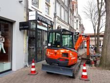 Winkels in Diezerstraat Zwolle gesloten vanwege onderhoud aan energienet