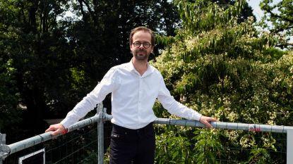 Zeldzame Chinese boom bloeit in Arboretum