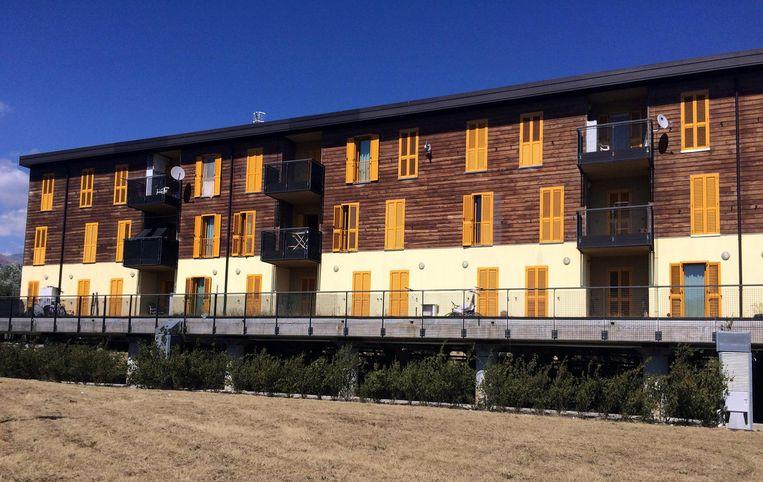 Aardbevingsbestendige woningen in L'Aquila. Beeld reuters