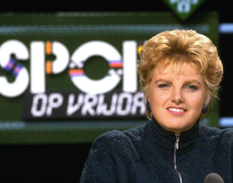 1987: Bunschoten presenteerde samen met Kees Jansma Sport op vrijdag. Beeld ANP
