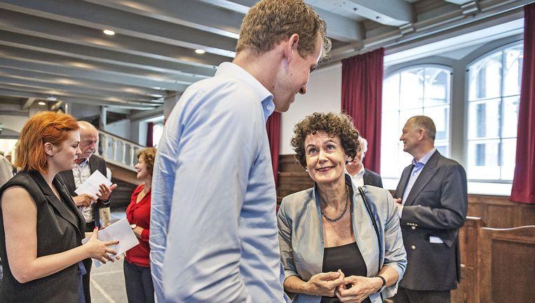 UvA-collegevoorzitter Geert ten Dam gisteren vlak voor haar rede Het democratisch tekort waarmee ze het academisch jaar opende. Beeld null