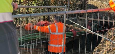 Menselijke resten gevonden bij werk aan N616 Erp; werkzaamheden aangepast verder