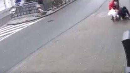 VIDEO. Vrouw krijgt op klaarlichte dag vuistslag vol in aangezicht in Anderlecht: politie zoekt dader