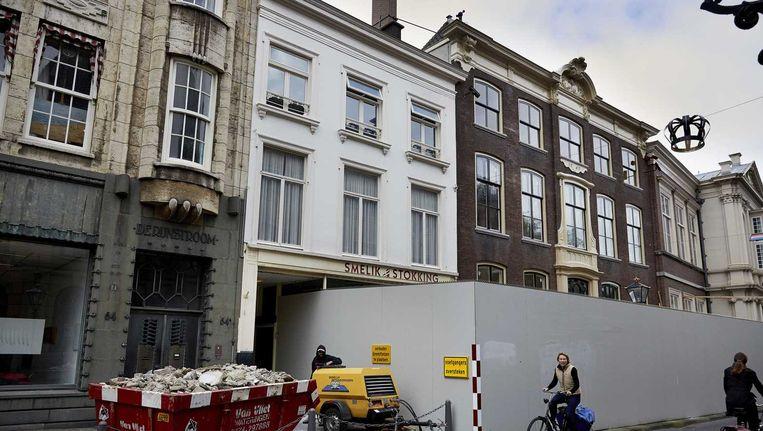 Het nieuwe werkadres van prinses Beatrix aan het Noordeinde in Den Haag. Het pand wordt voor bijna een miljoen euro verbouwd. Beeld anp