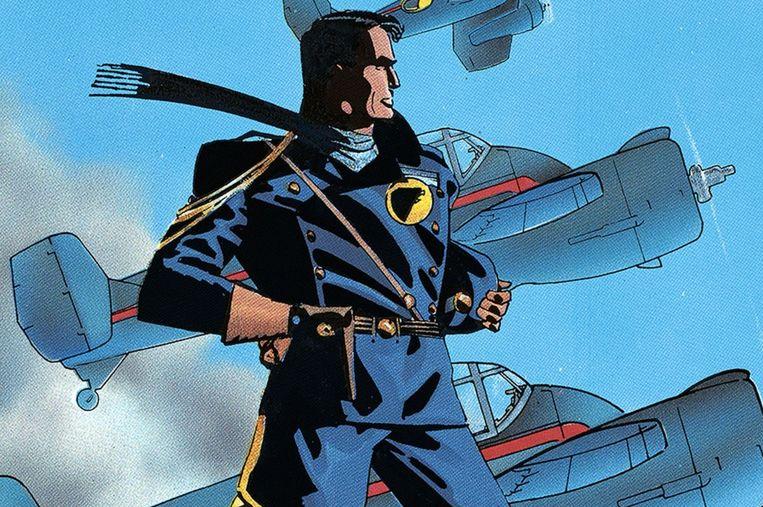 Het klassieke strippersonage Blackhawk. Zijn avonturen worden nu verfilmd door Steven Spielberg.